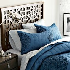 Ruffled Circle Quilt + Shams from west elm  Love the color, and the combo with the grey sheets.