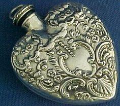 antique silver perfume bottle