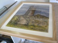 Oak frame-painting-Sharon Hockin-Castle Hill