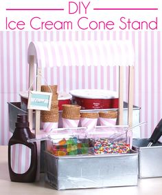 How to make your own adorable ice cream cone stand