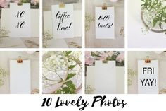 Hello Gold!  Lovely Message Bundle by Say Hello Photos on @creativemarket