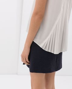 ZARA - NEW THIS WEEK - COMBINED TOP WITH PLEATED BACK