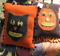 Halloween Pillows at the Country Living Fair in Columbus, Ohio. Don't miss it!!!