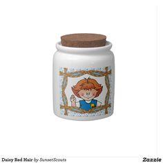 Daisy Red Hair Candy Jar