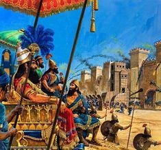 Los asirios conquistan Babilonia