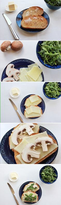 Pecorino Cheese & Cremini Mushrooms Combine in a Simple, Delightful 5-Ingredient Sandwich