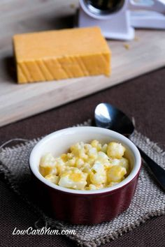 Instant low carb gluten free cauliflower mac and cheese