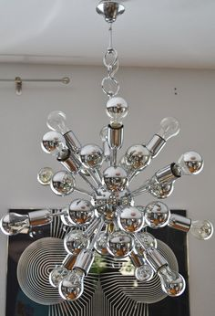 Mid century sputnik atomic chandelier ceiling by VintageofItaly