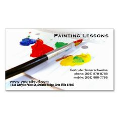 The 63 best entrepreneur business cards brochures images on painting lessons paintbrush on paper palette business card colourmoves