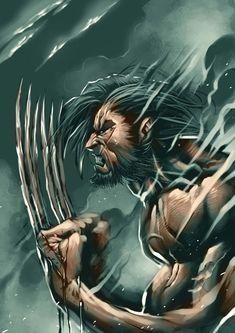Marvel & D.C / Heroes & villains Marvel Wolverine, Marvel Comics, Arte Dc Comics, Hq Marvel, Bd Comics, Marvel Heroes, Anime Comics, Comic Book Characters, Comic Book Heroes