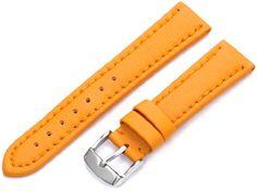 Hadley-Roma Women's LSL739RAG180 18-mm Orange Genuine 'Lorica' Leather Watch Strap - http://www.specialdaysgift.com/hadley-roma-womens-lsl739rag180-18-mm-orange-genuine-lorica-leather-watch-strap/