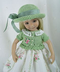 """Outfit for Dianna Effner Little Darling 13"""" Doll by Ulla, Dimity Green #DiannaEffner"""