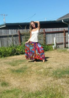ICe DYEd sKirt TIe dYe MAXI Skirt GyPsy sKirt boho hippie style skirt great for dancing and yoga band casual cocktail by LunabeanShoppe