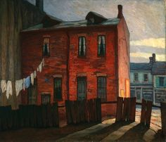 "Lawren Stewart Harris (Canadian, 1885-1970) - ""Morning,1921""; oil on canvas  (Group of Seven)"