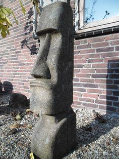 Stone Sculpture, Sculpture Art, Garden Sculpture, Tall Ornamental Grasses, Easter Island Statues, Tiki Man, Tiki Totem, Airstone, Vintage Tiki