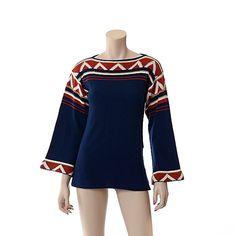 Vintage 70s Southwestern Indian Sweater 1970s by CkshopperVintage
