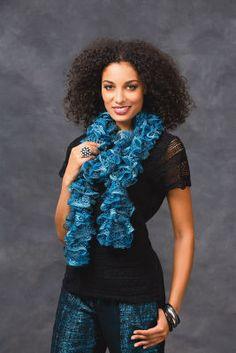 Sashay Metallic™ Glitzy Ruffle Scarf #Knit