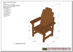 outdoor wooden chair plans free-#outdoor #wooden #chair #plans #free Please Click Link To Find More Reference,,, ENJOY!! Wooden Chair Plans, Outdoor Furniture Plans, Woodworking Furniture Plans, Woodworking Projects, Woodworking Machinery, Bench Plans, Woodworking Workshop, Teds Woodworking, Outdoor Sofa Sets
