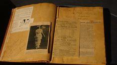 Scrapbook of Mata Hari in the Frisian Museum in Leeuwarden, the Netherlands