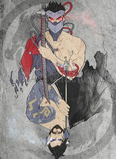 Overwatch Blackwatch Genji and Hanzo