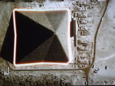 Viewed (02) from above - the Great Pyramid has 8 sides.  (From History.com)