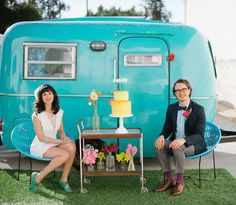 Wedding Caravan ideas (and delicious cake) on www.shesaidyes.co.nz