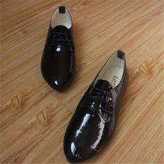 POADISFOO [328]shoe woman shoes New Korean Patent Leather multi-color women's Shoes With Pointed Flat Shoes .CDX-122