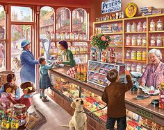 Old Candy Store - 1000 Piece Jigsaw Puzzle by White Mountain Puzzles