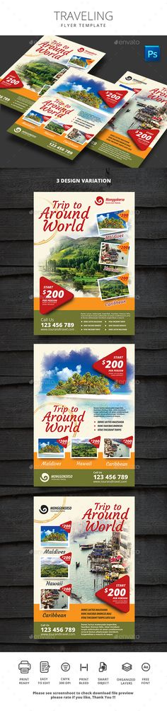 Traveling Flyer Template PSD