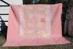 Pink Patchwork   Patchworks   Pink Patchwork from Jen Jones Welsh Quilts & Blankets