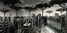 Incredible apocalyptic urban landscapes from Italian artist Giacomo Costa who lives and works in Florence. His latest exhibition, Post Natural, can be seen at Galerie Voss in Düsseldorf starting April Urban Landscape, Landscape Photos, Landscape Paintings, Canon T5i, Costa, Italian Artist, Animation, Art For Art Sake, Environmental Art