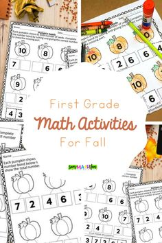 Do your kindergarten or 1st grade students need more addition practice? Try these FREE number bond cut and glue worksheets that are more engaging than a standard worksheet. They have a cute fall pumpkin theme! Addition and Subtraction within 10. #addition #subtraction #freeprintables #fallprintables Fun Math Activities, Math Resources, Math Games, Number Bonds Worksheets, Number Bonds To 10, Number Bond Games, Fifth Grade, Addition And Subtraction, Elementary Math