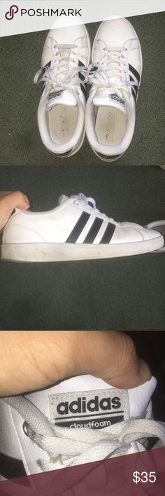 Adidas cloudfoam shoes (mens or women's) Adidas cloudfoam shoes for either men or women Worn multiple times but no rips or tears, just a couple of creases Got it at Nordstrom rack adidas Shoes Sneakers