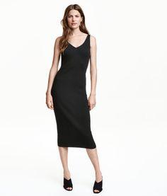 Fine-knit Dress | Black | Ladies | H&M US