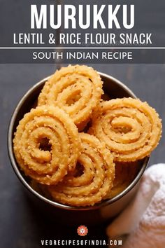This popular Diwali snack is made of lentil and rice flour and requires a special kitchen tool calle Healthy Indian Snacks, South Indian Vegetarian Recipes, South Indian Food, Vegan Snacks, Indian Food Recipes, Indian Foods, Kid Veggie Recipes, Easy Appetizer Recipes, Snack Recipes