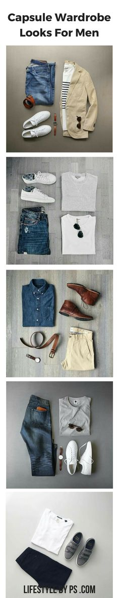 Build A Perfect Capsule Wardrobe For Men. (eBook) #mens #fashion #style
