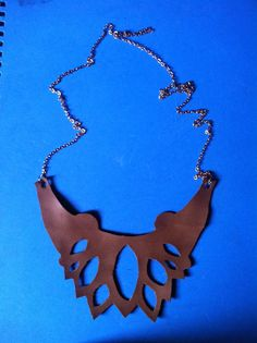 brown leather neckless #diy
