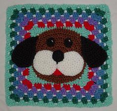 Puppy Dog Granny Afghan Square pattern by Rhonda Guthrie ~ free pattern