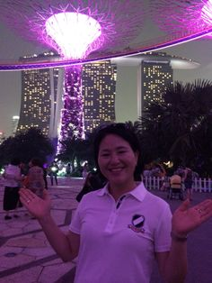 Jeunesse global  Singapore Expo 2015 숙소 마리나베이샌즈호텔 가든에서 내사랑 지니..불꽃쇼 직전에 www.sponsor.so