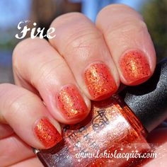 Mckfresh Nail Attire Planeteers Collection swatches. fire