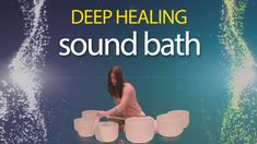 Sound Healing with Crystal Bowls - Sound Bath by Michelle Berc Sound Bath, States Of Consciousness, Spiritus, Deep Relaxation, Divine Light, Yoga At Home, Sound Healing, Meditation Techniques, Meditation Music