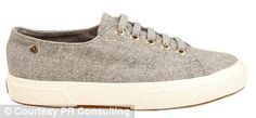 Superga grey marle cashmere sneakers by Mary-Kate Olsen Ashley Olsen