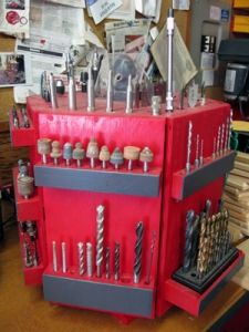 tool caddy   This would be great for my Dremel extra's