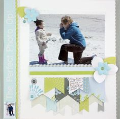 The Perfect Photo Enchanted and Reflections Scrapbooking Layout