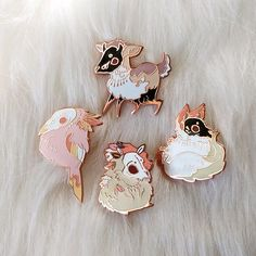 Season Spirits - Spring - Enamel Pins by buboplague on Etsy