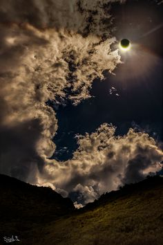 September 3, 2016  -       Reunion Island Eclipse  -    Image Credit & Copyright: Stephane Moser  -   Explanation: The New Moon's dark shadow crossed planet Earth on September 1. In silhouette the Moon didn't quite cover the Sun though, creating an an annular solar eclipse. The shadow's narrow central path was about 100 kilometers wide at maximum eclipse.    More....