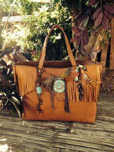 Beautiful bohemian bag (fringes, ibiza style)