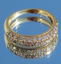 14 kt gouden ring met 0,94 c briljanten ringmaat 17 Wesselton