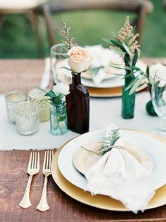 Outdoor wedding decorations - Elegant and Rustic lakeside wedding