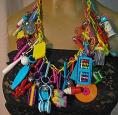80s charm necklace -really wish i still had this